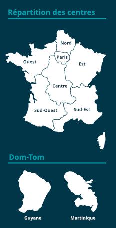 carte de France avec régions